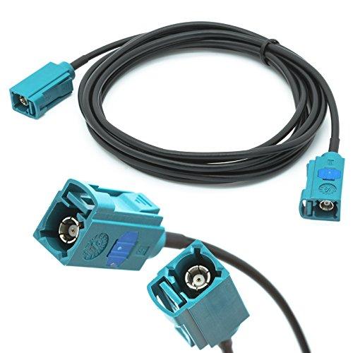 Auto Für 2 Antenne Meter Ein (Adapter-Universe Auto Antennen 2 m Verlängerung Kabel FAKRA Buchse auf FAKRA Buchse Z RG174 KFZ Adapter für Universal)