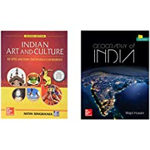 Indian Art & Culture + Geography of India (Set of 2 books)