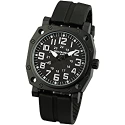 INFANTRY® Mens Analogue Quartz Wrist Watch Black Sports Tactical Rubber Strap INFILTRATOR