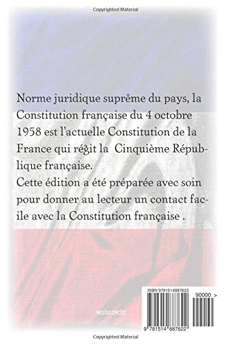 Constitution de la Republique francaise