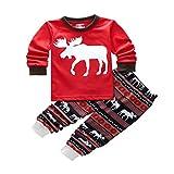 Pijamas de Navidad Familia Pijamas Navideñas Adultos Pijama Familiares Manga Larga Hombre Mujer Niños Niña Chica Bebe Trajes Navideños para Mujeres Ropa de Noche Homewear Invierno Por Niño 2 Años