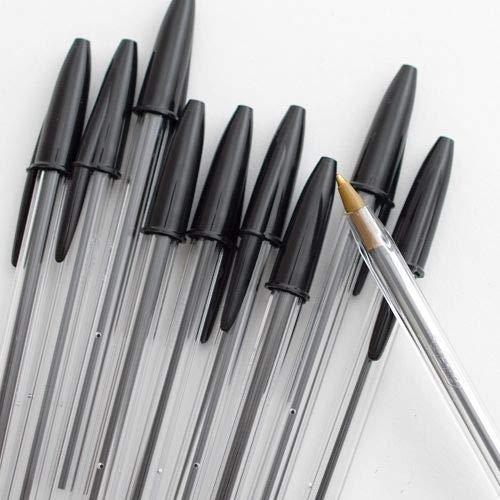 Kugelschreiber mit breiter Spitze, fließendes Schreiben, Schwarz, 10 Stück