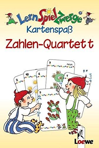 LernSpielZwerge Kartenspaß: Zahlen-Quartett  (48 Spielkarten)