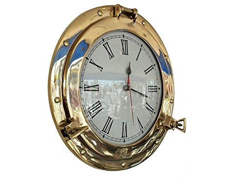 Brass Porthole Clock 14