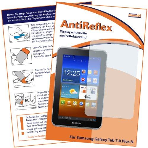 mumbi Displayschutzfolie Samsung Galaxy Tab 7.0 Plus N Displayschutz AntiReflex antireflektierend