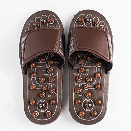 Oudan Akupressur Fuß Massage Hausschuhe Sandale Medizinisch Drehen Therapie Fußmassagegerät Schuhe Unisex,38~41 (Farbe : Wie Gezeigt, Größe : 36~38) (Botas De Mujer Altas)