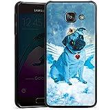 Samsung Galaxy A3 (2016) Housse Étui Protection Coque Ange carlin bleu Chien Nuages