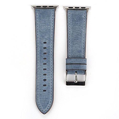 TianranRT Neu Neu Frisch Leder Mode Leder Armband Ersatz Watch Band Für Apple Watch 38mm (Marine,38mm) (Ipod Watch Apple Band)