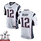 12 Tom Brady Trikot 2017 Super Bowl LI New England Patriots Jersey Mens White Size 44