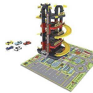 CYP- Torre Garaje 5 Niveles con Coches y Tapiz incluidos (1)