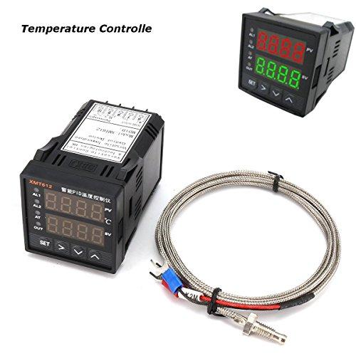 KUNSE Xmt612 Dual Digital F/C PID Celsius Fahrenheit Temperaturregler mit K Typ Thermoelement