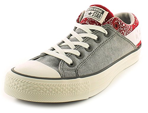 new-mens-grey-converse-classic-all-star-canvas-lace-fastening-shoes-grey-white-red-uk-size-95