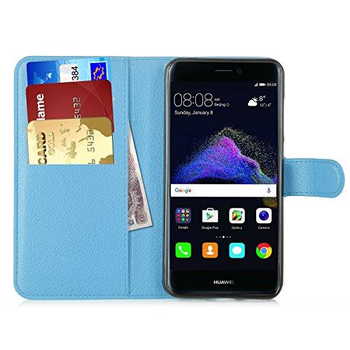 Produktbild Huawei P8 Lite 2017 Hülle, IVSO Hohe Qualität Advanced Shock Absorption Technology Case Folio Tasche Cover für Huawei P8 Lite 2017 Smartphone (Für Huawei P8 Lite 2017, Blau)
