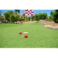 crestgolf Golf verde flag-stick, Solid/O en mezcla de colores para su elección de pago, 1set, 3, 4sets Paid Red