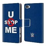 Head Case Designs Offizielle WWE John Cena U Can't Stop Me 2018/19 Superstars 5 Brieftasche Handyhülle aus Leder für Sony Xperia Z5 Compact