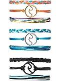 3 Set Bracciale Onda Intrecciato Corda Bracciale Set Regolabile Amicizia Bohemien Braccialetto Fatto a Mano Impermeabile per le Donne Uomini (Colore 3)