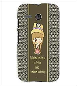 PrintDhaba Quote D-4306 Back Case Cover for MOTOROLA MOTO G (Multi-Coloured)