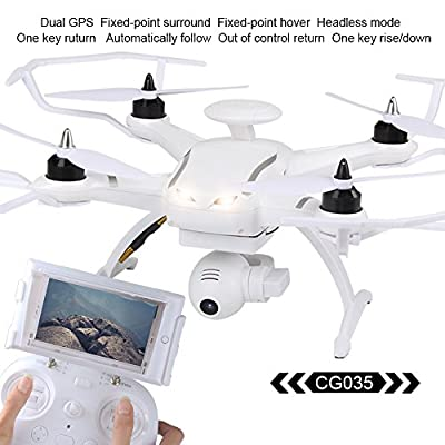 LiDi RC 035 RC Drone 5.8G FPV Real-time Transmission with 720P HD Camera RC Quadcopter with Dual GPS follow(brushless version