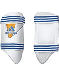adidas Pro deportes de críquet Batsman pierna protección interior muslo Pad Guardia para hombre, color blanco y naranja, tamaño Right Hand Mens