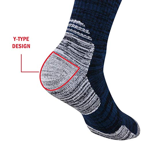51IYD0Q1jvL. SS500  - YUEDGE Mens Socks Size 6-11 12 Cotton Rich Athletic Socks of Wicking Breathable Cushion Anti Blister for Outdoor Hiking