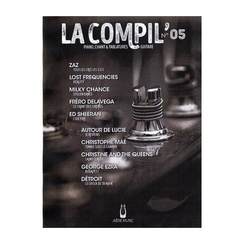 Partitions variété, pop, rock AEDE MUSIC LA COMPIL N.05 - PVG TAB Piano voix guitare tablatures par compilation