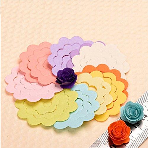Kicode Coloré main enfants Puzzle 20pcs 20 Couleur / Lot Rose quilling Papier couleur mixte Origami DIY