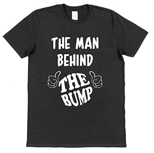 Click My Clobber Mens, T-Shirt, The Man Behind The Bump Pregnancy Announcement New Dad