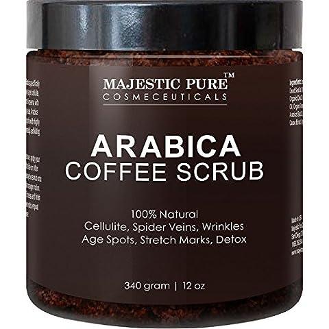 Majestic Pure Gommage pour le corps 100% naturel à base de café pur arabica 340g