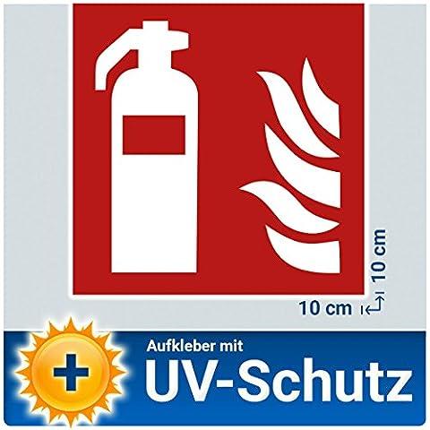5x extintor adhesivos, protección contra incendios caracteres Cartel con protección UV, aussenkl autoadhesivo), Nota pictograma Símbolo extintor Buzón para casa, oficina, construcción y