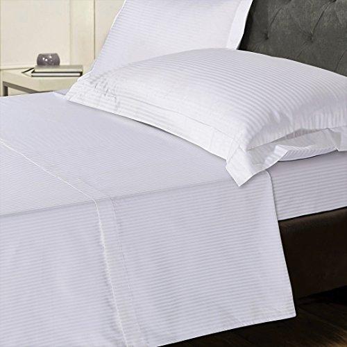 Leinen Zone 800Fadenzahl 100% reinen, natürlichen Ägyptischer Baumwolle T800Tief Spannbetttuch, 5Star Hotel Qualität, weiß, Double Deep Fitted Sheet (Ägyptische Baumwolle Stoff)