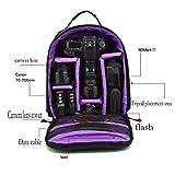 Camera zaino impermeabile Zaino di nylon a tracolla 26.5 * 12.5 * 33 multi funzione anti-shock per DSLR Canon Nikon Sony Olympus EOS Samsung reflex Pentax Accessori Fujifilm Viaggiare Fotografia , purple , 33cm*12*5cm*26.5cm