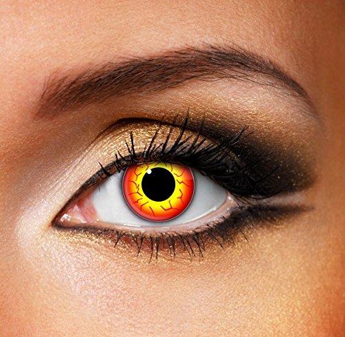 darth maul halloween karnaval kontaktlinsen, Eyefusion Kontaklinsen, weich, ohne Stärke als 2er Pack - perfekt zu Halloween, Karneval, Fasching oder Fasnacht