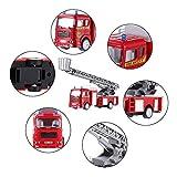 Tatuo Feuer LKW Spielzeug Reibung Angetriebenen Auto Rote Löschfahrzeug LKW für Kleinkind Jungen Geschenke Vergleich