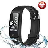 Fitness Tracker, Activity Tracker Watch Heart Rate Monitor, Waterproof Smart Bracelet Step Counter