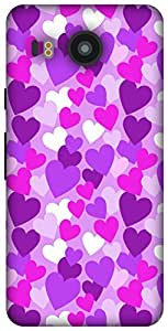 The Racoon Lean Purple Heart Rain hard plastic printed back case / cover for LG Nexus 5X