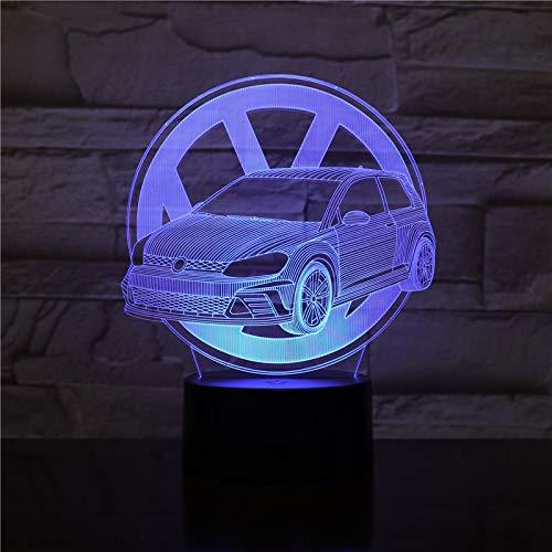 7 colori cambiano regalo creativo scarabeo modellazione auto lampada da tavolo a LED 3D Pulsante USB touch car con luce notturna decorazione per bambini 2337