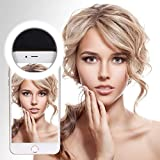 Ultra Aura Portable 36 LED Selfie Ring Light for Android and iPhone(Black)