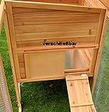 nanook Charlotte - Hühnerstall mit Freilauf, Legebox, 2 Sitzstangen, Auszugswanne - wetterfest, Größe XXL - Farbe: natur - 5