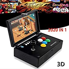 "Pandora's Box 3D, Arcade Video Game Console, 10"" Screen JAMMA Boards Retro Console Arcade Machine, 2020 in 1 (2177 in 1 with 10 3D games and 2166 2D games)"