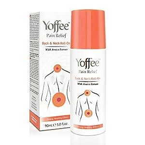 Yoffee – Schmerzgel Roll On – Wärmegel mit Arnika zur Schmerzlinderung von Nacken, und Rückenschmerzen, Sofortige Muskelentspannung und mehr Bewegungsfreiheit, Keine Schmerzen mehr, SOS-Hilfe, 90ml