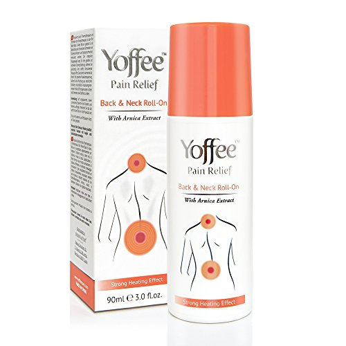 Yoffee Pain & Back Roll On - Gel anti douleur pour la nuque et le dos - Vegan  90 ml