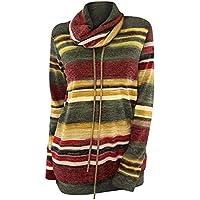 Rosegal Sweat-Shirt Femme Mode Tunique Long Tops Manche Longue Pull Sport  Automne Printemps T 82d42af8501