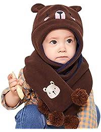 DORRISO Cappello Sciarpe Set Bambino Primavera Autunno Invernale Carina  Piccolo Cartone Animato Cappelli Berretto Bambini Infantili 747feed30444