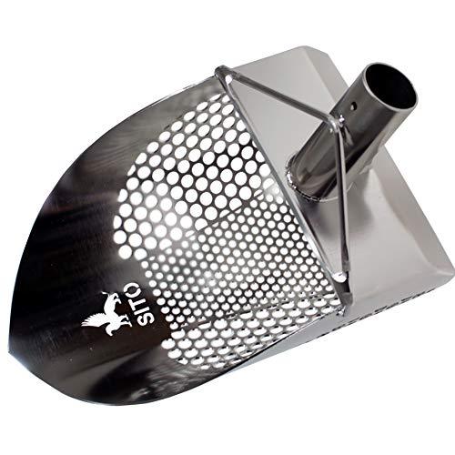 Sito - V2-200 mm - Tamis pelle en acier inoxydable pour la détection de métal et de la chasse au trésor Sand Scoop