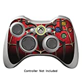 GameXcel ®  Xbox 360 Controller Skin - Schutz Vinyl-Aufkleber für X360 nehmen drahtlose Game-Controller - X3 Controller Abziehbild - Widow Maker Black [Controller nicht enthalten]
