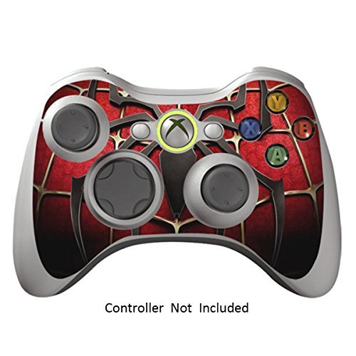 Game Xcel Xbox 360 High Gloss Controller Skin Protective Vinyl Sticker For  X360 Slim Wireless Game Controller X3 Controller Decal Widow Maker Black [