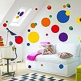 Cortina Bubble Theme Wall Sticker (Vinyl, 46 cm x 5 cm x 5 cm, 7158)