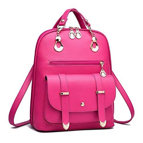 Mefly Studente Borsa Zaino Borsa Blu Navy pink