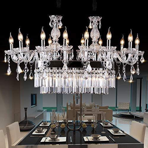 WJFXG Moderna lámpara de araña de Cristal K9 Estilo Europeo Luz de Lujo Lámpara Colgante de Accesorio de LED para Comedor Dormitorio del baño Sala de Estar Villa