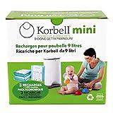 Korbell Recharges biodégradables poubelle MINI 9L X3